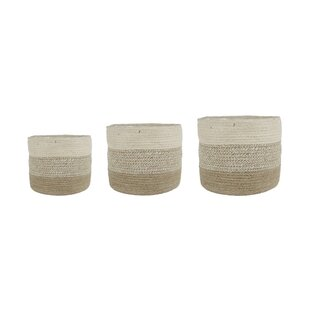 Ronnie Natural Fibre Cachepot (Set Of 3) By House Of Hampton