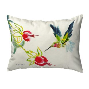 Sinegal Hummingbird Indoor/Outdoor Lumbar Pillow