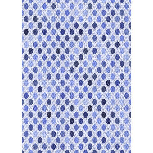 East Urban Home Keown Polka Dots Wool Blue Area Rug Wayfair