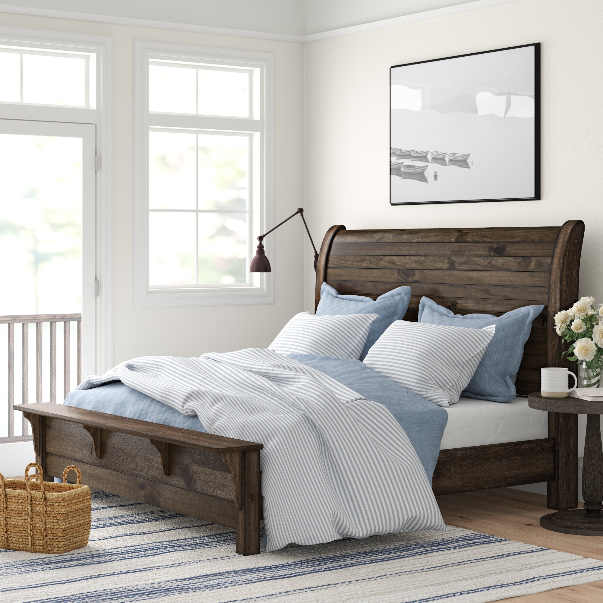 Three Posts Teignmouth Sleigh Bed Reviews Wayfair