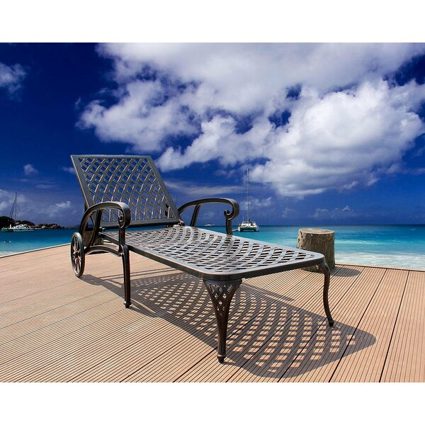 Canora Grey Chaise Lounge Outdoor Chair, Aluminum Pool ...