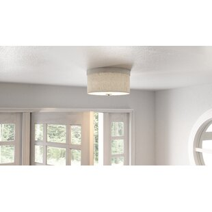 Orren Ellis Woody 2-Light Flush Mount