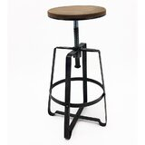 Monique Adjustable Height Bar Stool (Set of 4) by Williston Forge