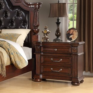 Milbourn 3  Drawer Nightstand in Cherry by Astoria Grand