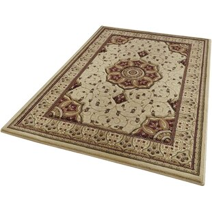 Cardinal 4400 Handwoven Cream Rug by Andover Mills