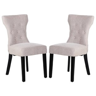 Neoma Upholstered Dining Chair Set of 2 by Gracie Oaks