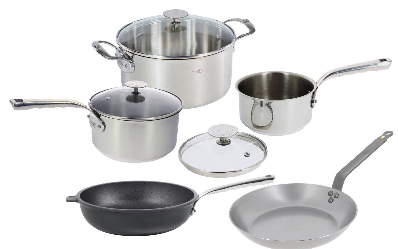 de Buyer Mineral B Element 5-Piece Non-Stick Cookware Set & Reviews ...