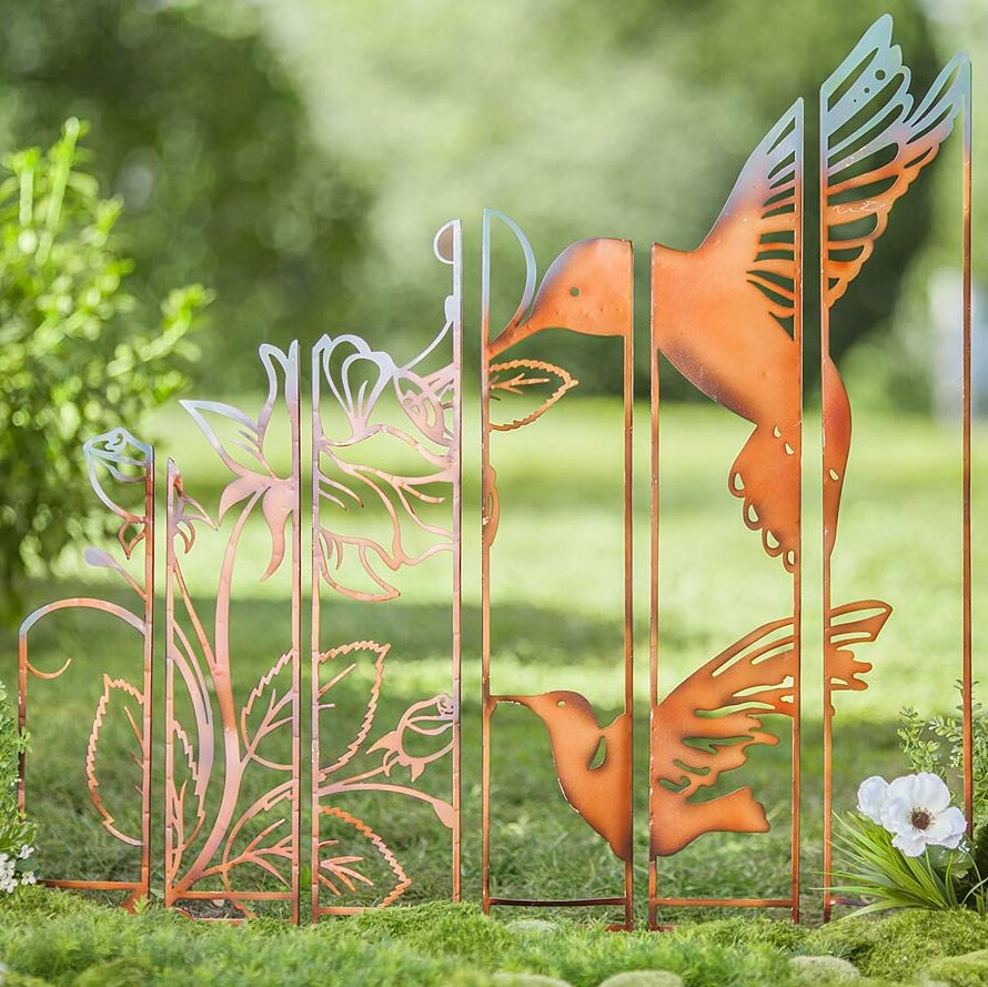 Wind U0026 Weather Metal Hummingbird Garden Stake | Wayfair