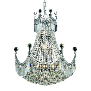 Kasha 9-Light Crystal Chandelier by Willa..