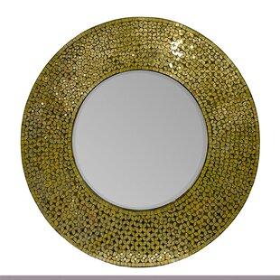 Bloomsbury Market Abree Mosaic Round Accent Mirror