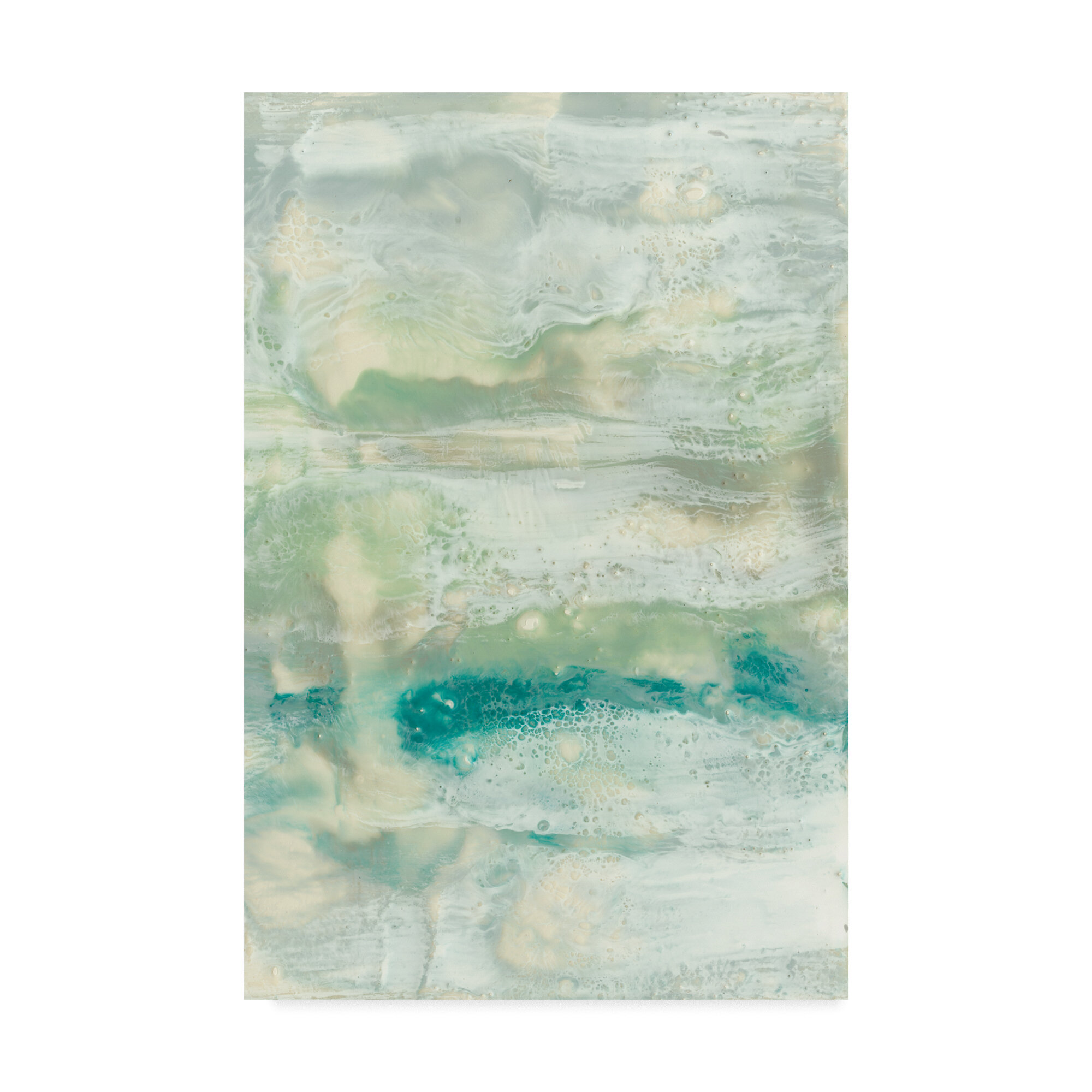 East Urban Home Serene Seafoam Ii Acrylic Painting Print On Wrapped Canvas Wayfair