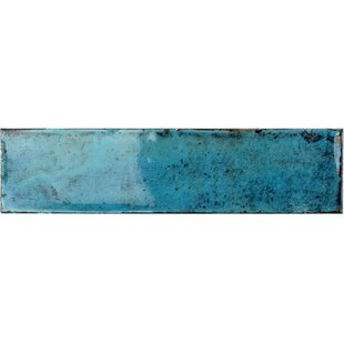 Moze 3 X 12 Ceramic Subway Tile In Blue