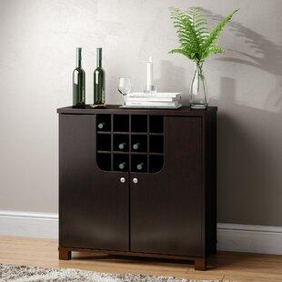 Spicer Bar with Wine Storage by Ebern Designs