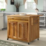LeVar Kitchen Island with Butcher Block Top by Winston Porter