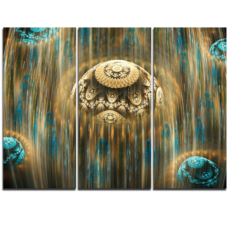 Designart Brown World Of Infinite Universe 3 Piece Graphic Art On Wrapped Canvas Set Wayfair