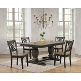 Griffing 5 - Piece Extendable Rubber Solid Wood Dining Set by Canora Grey