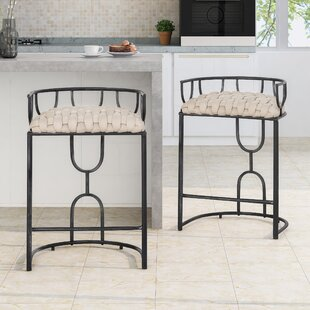 Chandler Woven 28 Bar Stool (Set of 2) by Ivy Bronx