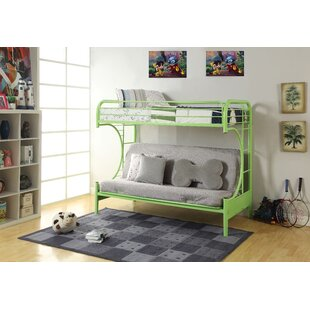 Hiett Twin Over Twin Futon Bunk Bed