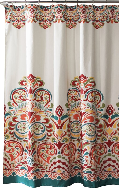 navy and coral shower curtain. Kara Shower Curtain Curtains  Joss Main