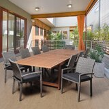 Pippa International Home Outdoor 11 Piece Dining Set with Cushions