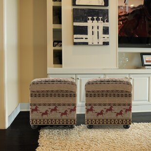 Storage Ottoman by Red Bar..