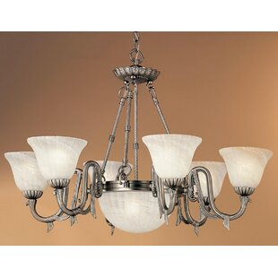 St. Moritz 8-Light Shaded Chandelier by Classic Lighting