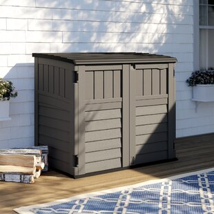 Stoney Resin Outdoor 4 ft. 4 in. W x 2 ft. 8 in. D Plastic Horizontal  Storage Shed