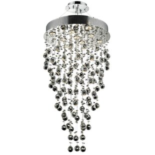 Everly Quinn Deidamia 9-Light Crystal Chandelier