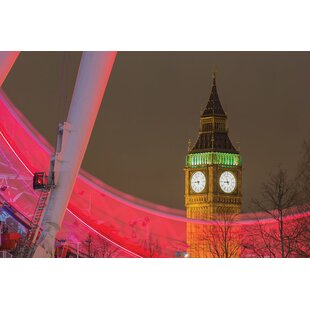 River Side London Eye Canvas Wall Art Picture Print Beautiful Lovely Home Decor