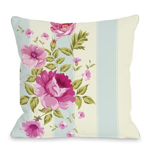 Shelby Stripe Rose Throw Pillow