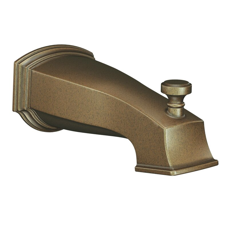 Moen Rothbury Single Handle Wall Mounted Tub Spout Trim with Diverter