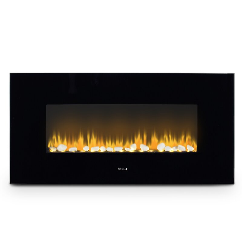 Della 1500w Wall Mounted Electric Fireplace Reviews Wayfair