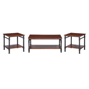 Bealeton Faux Wood 3 Piece Coffee Table Set