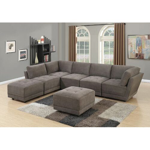 Astounding Mckenny Left Hand Facing Modular Sectional With Ottoman Pabps2019 Chair Design Images Pabps2019Com