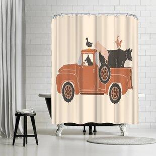 NDTank Farm Use Shower Curtain ByEast Urban Home