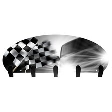 Checker Flag 5 Hook Coat Rack by Next Innovations