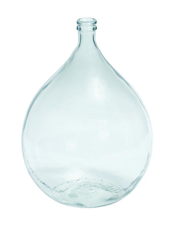 Clear Glass Decorative Floor Vase