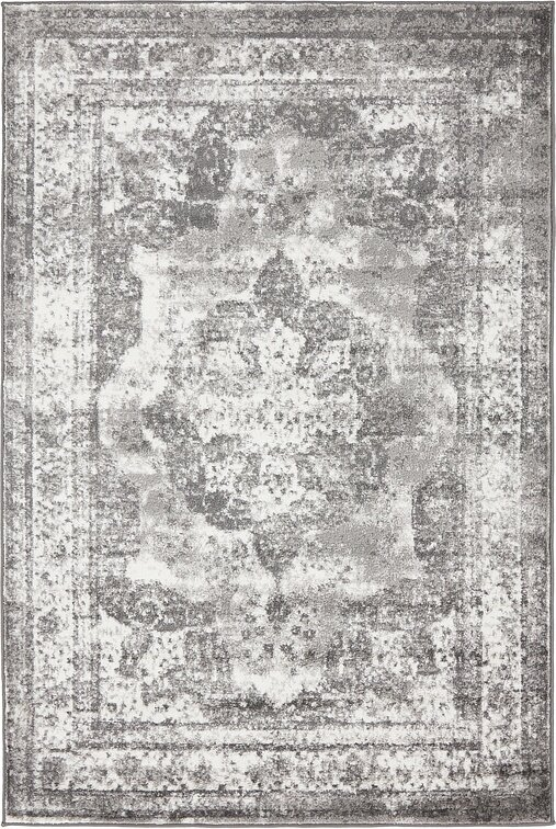 mistana brandt gray area rug & reviews | wayfair