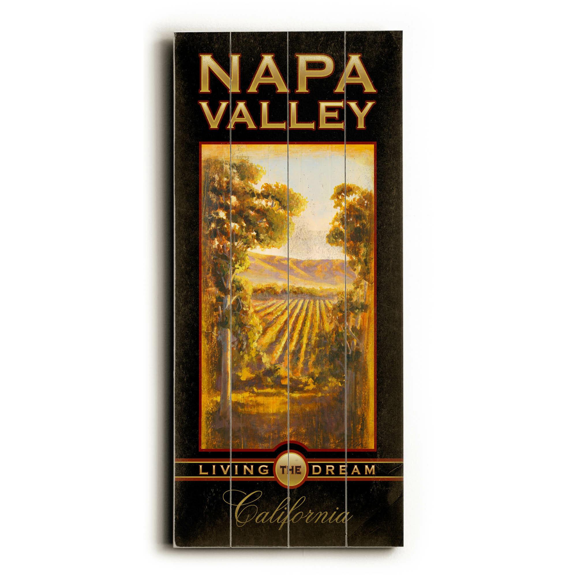 Artehouse Llc Napa Valley Dream Vintage Advertisement Multi Piece Image On Wood Wayfair