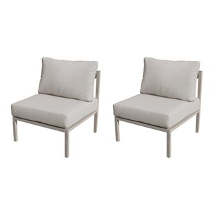 TK Classics Carlisle Patio Chair with Cushion (Set of 2)