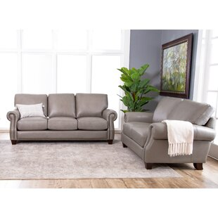 Carthage Leather Configurable Living Room Set by Darby Home Co