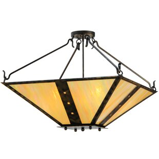 Meyda Tiffany Zandra 4-Light Semi Flush Mount