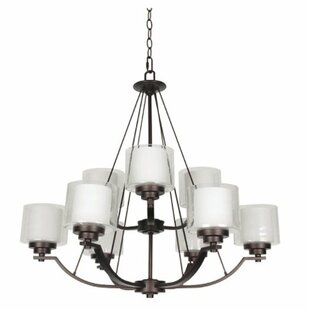 Winston Porter Woolridge 9-Light Shaded Chandelier