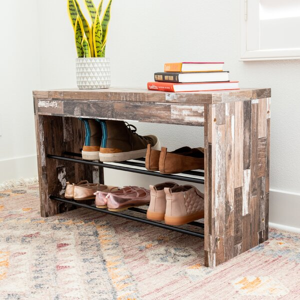 Decorative 6 Pair Shoe Storage Bench Reviews Birch Lane