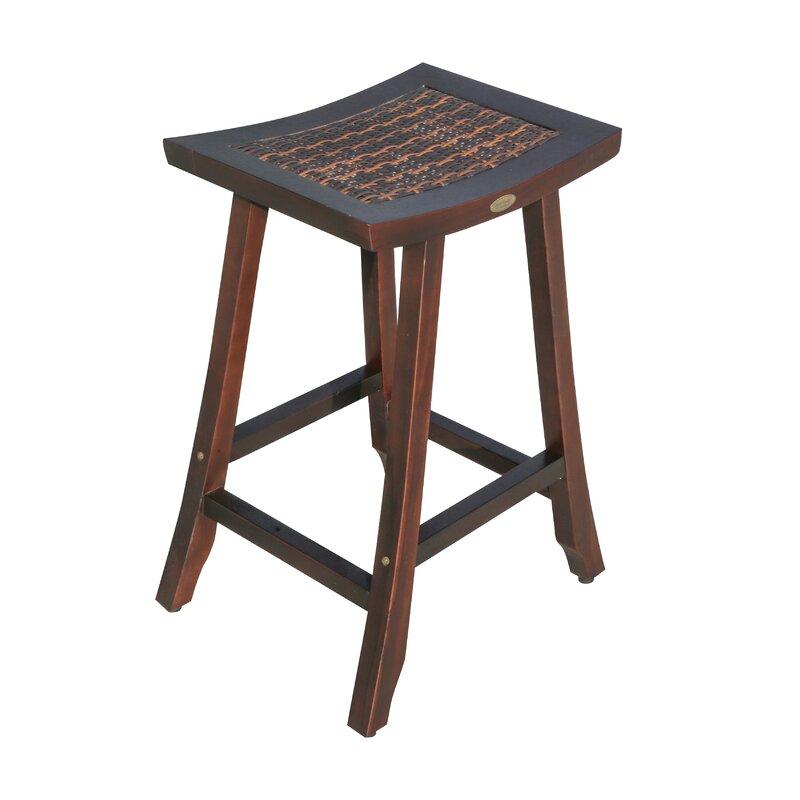 ecodecors satori teak bar stool wayfair rh wayfair com