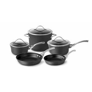 Contemporary Nonstick 8-Piece Cookware Set