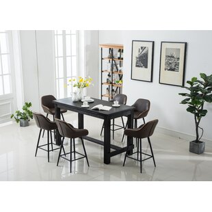 Shoemaker 7 Piece Counter Height Dining Set
