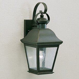 Three Posts Darrah 1-Light Glass Shade Outdoor Wall Lantern