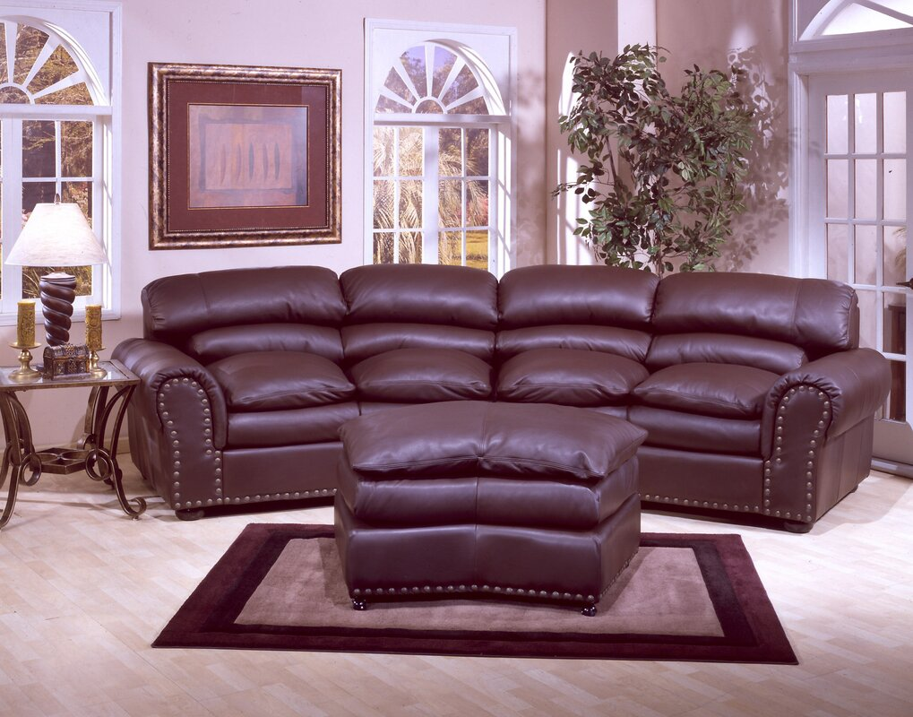 Omnia Leather Williamsburg Leather Configurable Living Room Set ...