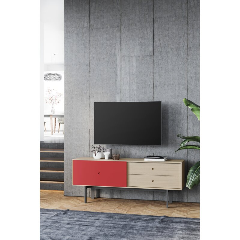 """BDI Margo TV Stand for TVs up to 82""""  Color: Drift Oak/Cayenne"""